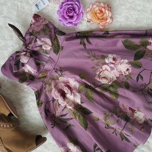 Adorable strapless floral dress